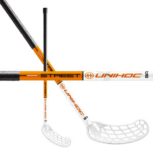 Unihoc STREET 35 white/orange Floorball Schläger