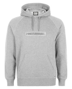 Zone floorball Hood ZIP WARLORD grey Kapuzenpulli