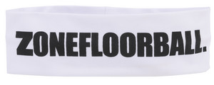 Zone floorball Headband LOGO HUGE Mid white