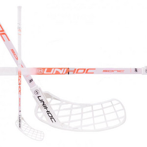 Unihoc SONIC Top Light 30 white/coral Floorball Schläger
