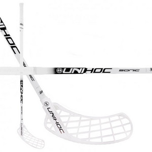 Unihoc SONIC Feather STL 26 white/black Floorball Schläger