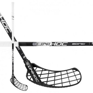 Unihoc SONIC Bamboo 26 black/white Floorball stick