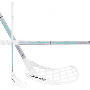 Unihoc EPIC STL 29 white/turquoise Floorball stick