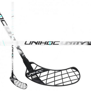 Unihoc UNITY Oval Light 26 white/black Florbalová hokejka