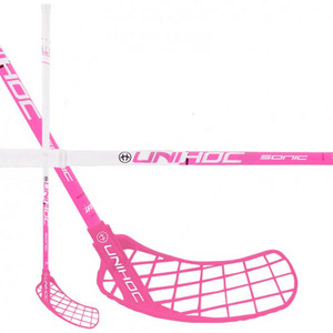 Unihoc SONIC Top Light II 29 white/cerise Floorball Schläger