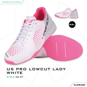 Unihoc Shoe U5 PRO LowCut Lady white Indoor shoes