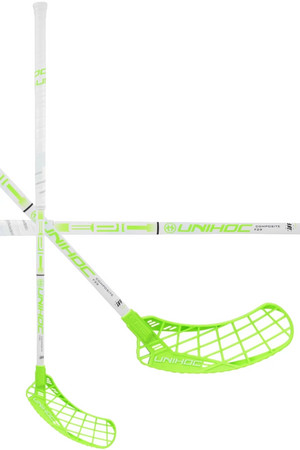 Unihoc EPIC Composite 29 white/light green Florbalová hokejka