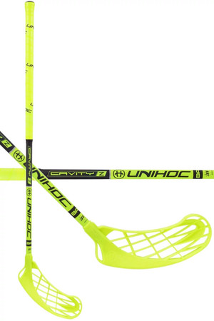 Unihoc CAVITY Z 32 neon yellow/black Floorball stick