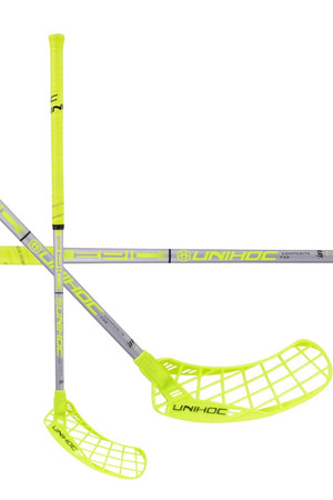 Unihoc EPIC Composite 32 neon yellow/silver Floorball Schläger