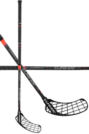 Unihoc SONIC CARBSKIN Feather Light Curve 2.0º 26 red Floorball stick