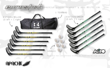 Necy APACHE Floorball set with bag