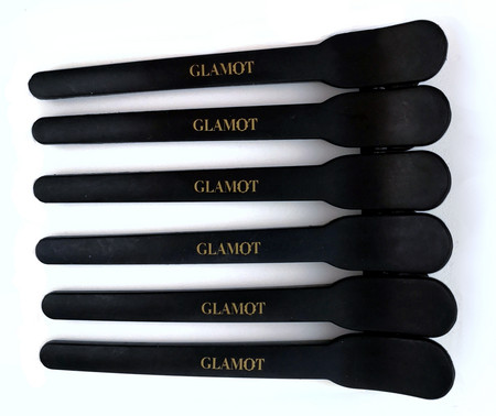 Glamot Carbon Section Clips Carbon-Haarspangen