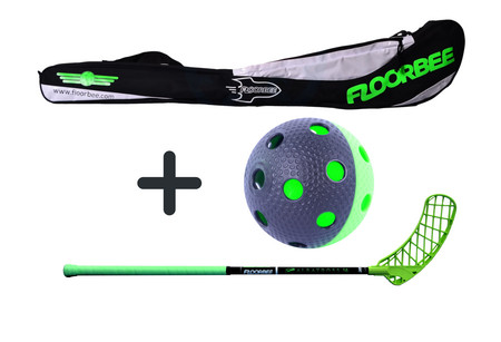 FLOORBEE Albatross 36 + Stickbag + ball Set florbalky s vakem a míčkem