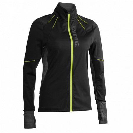 Salming Thermal Wind Jacket Women Black/Black Melange Laufjacke