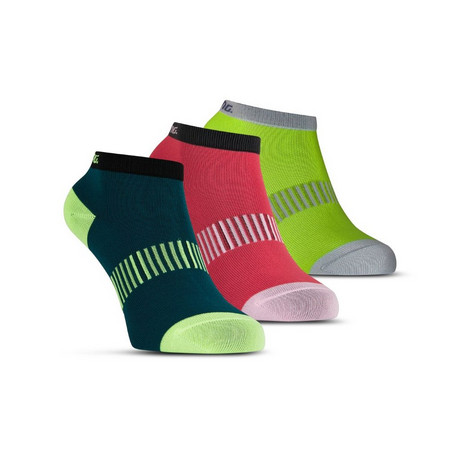 Salming Performance Ankle Sock 3p Teal/Yellow/Red Functional Socks