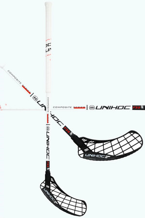 Unihoc EPIC Composite 32 white/black Floorball stick