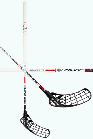 Unihoc ICONIC Composite FL 28 white/black Floorball stick