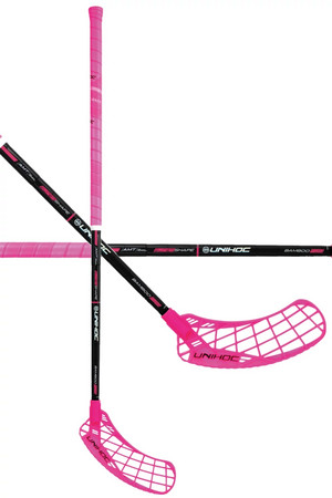 Unihoc EPIC Bamboo Supershape 29 cerise/black Floorball stick