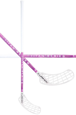Unihoc SONIC TITAN EDGE Curve 1.0º Supershape 29 white/pink Floorball stick