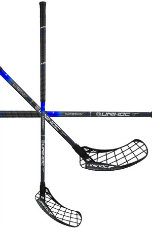 Unihoc EPIC CARBSKIN Curve 1.0º 29 black/blue Floorball stick