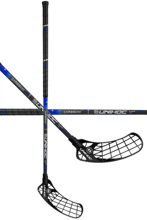 Unihoc ICONIC CARBSKIN FL Curve 1.0º 29 black/blue Floorball schläger