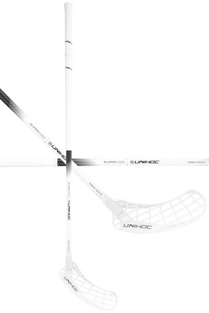 Unihoc EPIC SUPERSKIN MAX FL 26 white/black Floorball schläger