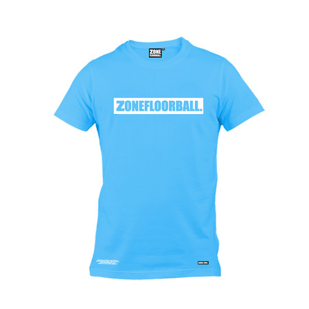 Zone floorball PERSONAL blue/white T-shirt