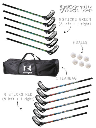 Eurostick Street Talk Team set with bag Floorball set