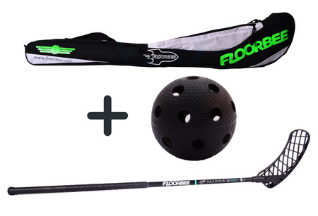 FLOORBEE Falcon PRO 26 + Stickbag + ball Set floorball stick with bag and ball