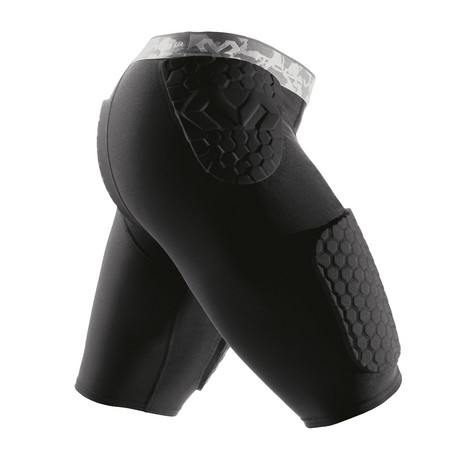 McDavid 737 HEX™ Thudd Short™ compression shorts with thigh, hips and coccyx protectors