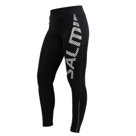 Salming Run Logo Tights 2.0 Women Black/Silver Reflective elasťáky