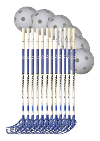 Eurostick Gravity Team Set 12 Floorball set (15+ Jahre)