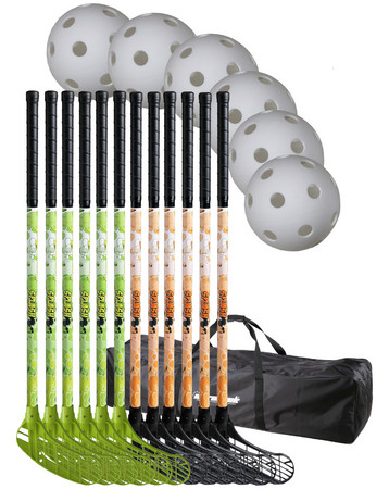 Eurostick Splash 80/91 cm teamset with bag Floorball set (9-12 age)