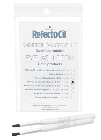 RefectoCil Eyelash Perm Cosmetic Brush 1 & 2 Bürsten