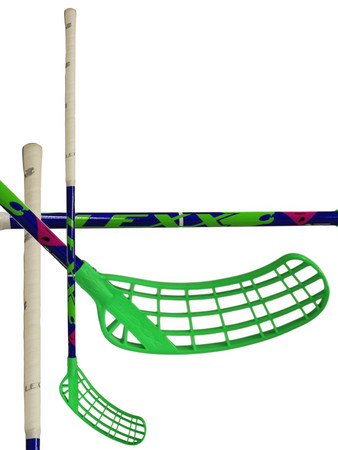 LEXX Tundra A2 3,2 Blue/Chrome/Green Floorball schläger