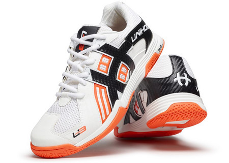 Unihoc U3 Power white/orange Hallenschuhe