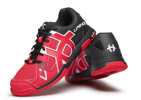 Unihoc U3 Speed Lady neon red/black Indoor shoes