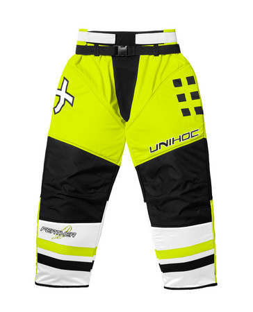 Unihoc Feather neon yellow Goalie Hosen