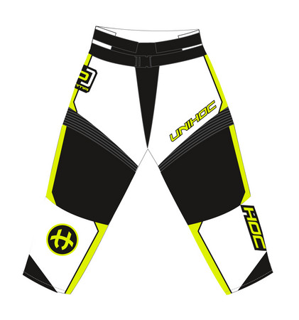 Unihoc OPTIMA white/neon yellow Goalie Hosen