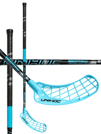 Unihoc EPIC Feather Light 26 black/ice blue Floorball Schläger