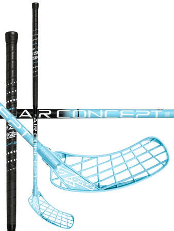Zone floorball HYPER AIR Superlight Curve 2.0° 27 black/blue Floorbal stick