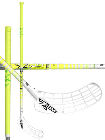 Zone floorball ZUPER RIPPLE Curve 1.0° 27 white/yellow Floorbal stick