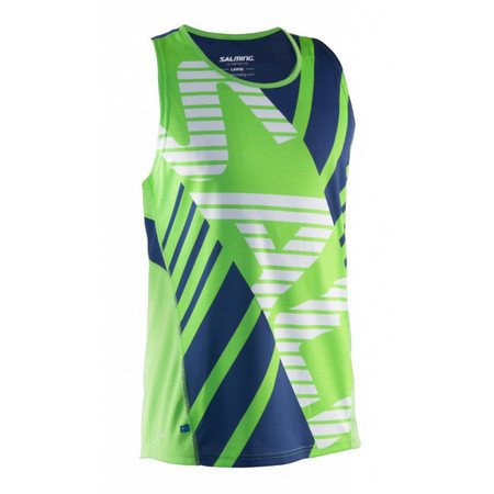 Salming Race Singlet Men Lizard/Deep Blue undershirt