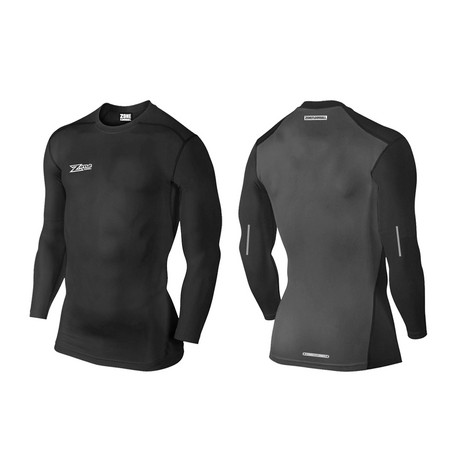 Zone floorball Compression shirt 2.0 long sleeve black Kompresní tričko