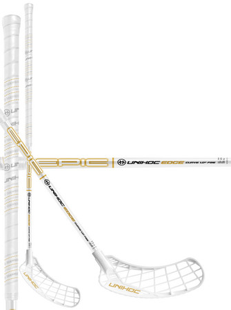 Unihoc EPIC EDGE Curve 1.0º 26 white/gold Floorball Schläger