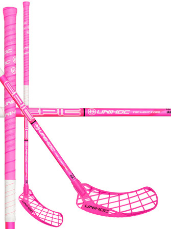 Unihoc EPIC Top Light II 29 cerise/white Florbalová hokejka