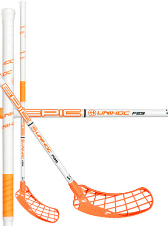 Unihoc EPIC 29 white/neon orange Florbalová hokejka