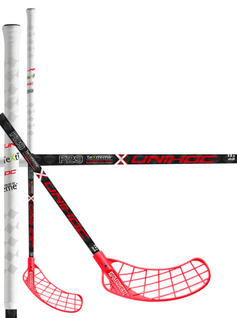 Unihoc REPLAYER TeXtreme Feather Light Curve 1.0º 29 red/white Florbalová hokejka