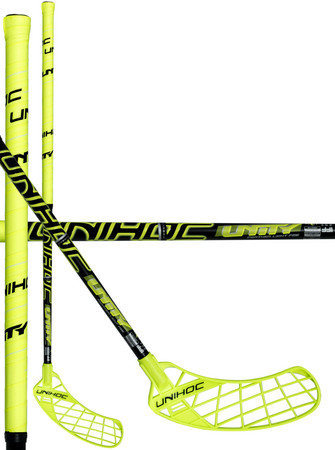 Unihoc UNITY Feather Light 26 neon yellow/black Floorball Schläger