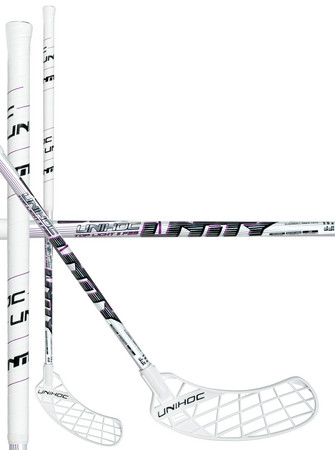 Unihoc UNITY Top Light II 29 white/purple Florbalová hokejka